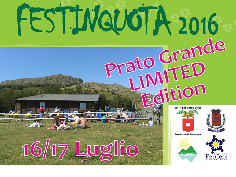 FESTINQUOTA 2016 'Dalla Terra Ubriaca alla Musica & Birra' con Daniele Ronda – 16 -17 Luglio Prato Grande