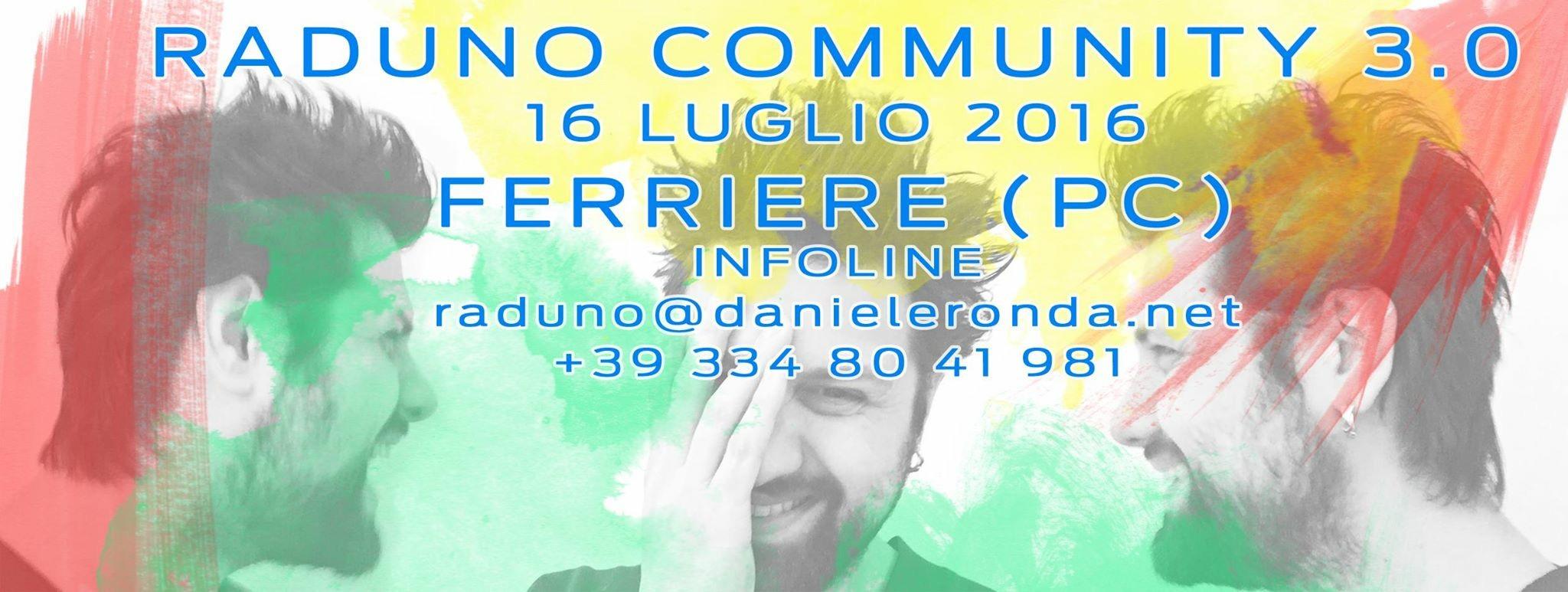 FESTINQUOTA 2016 – RADUNO COMMUNITY 3.0 – SABATO 16 LUGLIO
